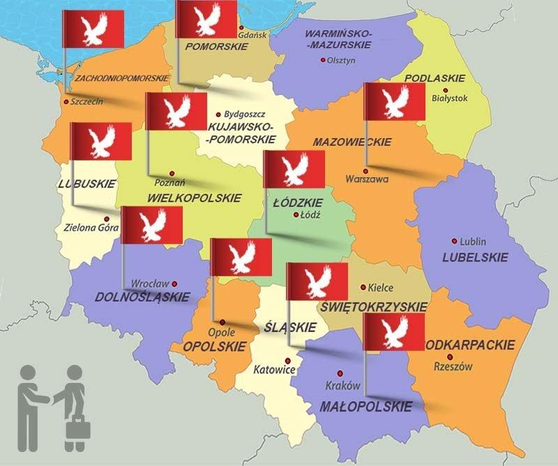 Pomoc w długach Mam.dlugi.pl mapa działania