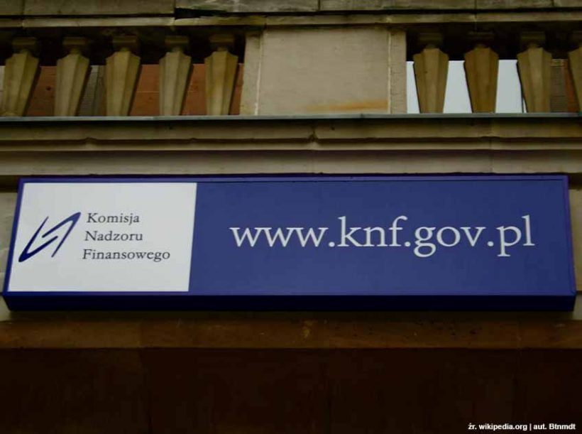 Komisja Nadzoru Finansowego (KNF) ostrzega