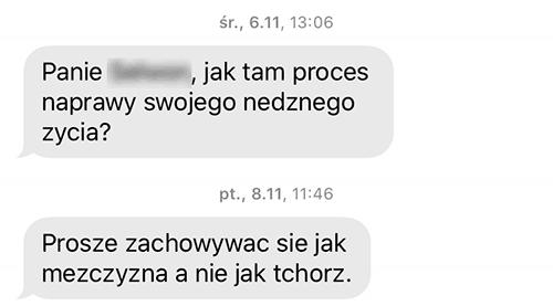 SMS od windykatora