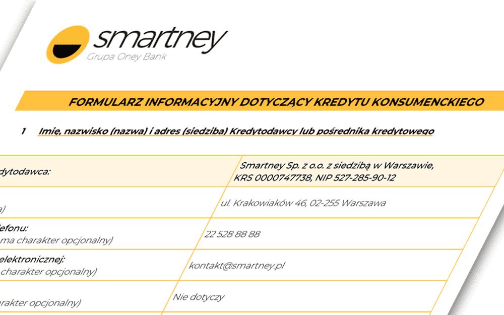 Maksymalna kwota i okres kredytowania w Smartney