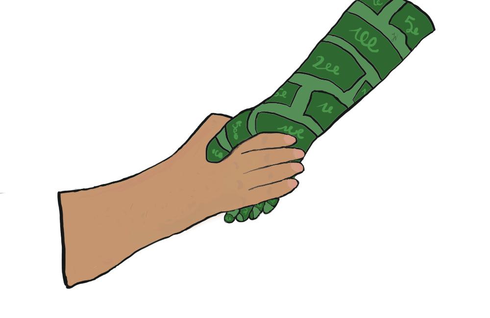 Dług dla dzieci jak ręka, która pomaga lub trzyma