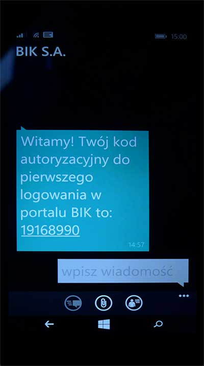 SMS z BIK