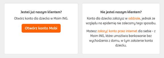 Konto Mobi dla posiadaczy konta w ING