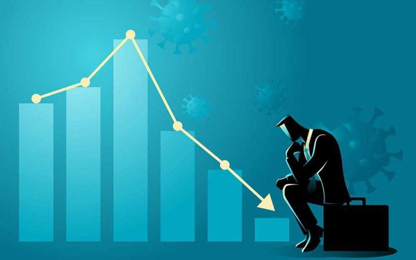 finansista analizuje straty w czasie pandemii