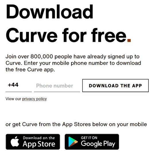 Reklama zachęcajca do darmowej rejestracji w Curve