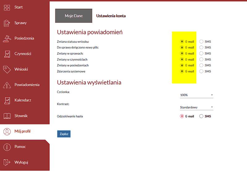 Portal Informacji Sądu wysyła powiadomienia o stanie spraw