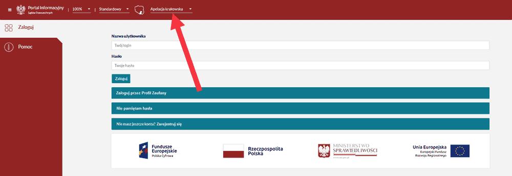 Strona Portal Informacji Sądu Powszechnego