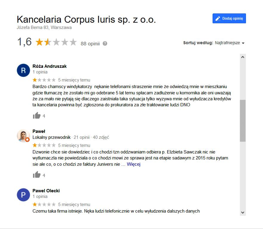 Opinie o Corpus Iuris