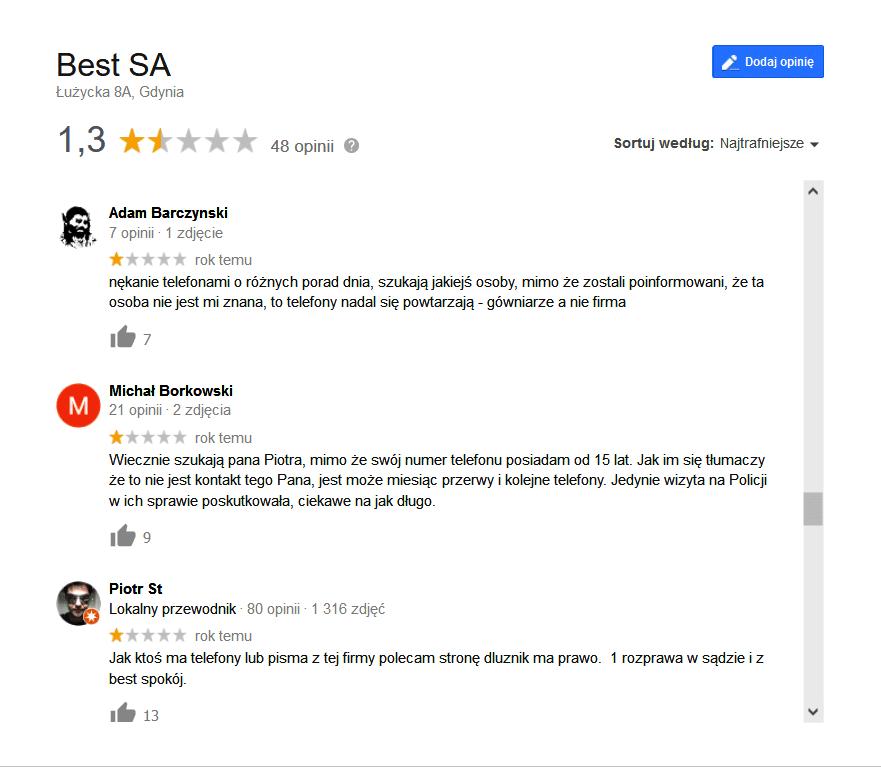 best sa opinie google