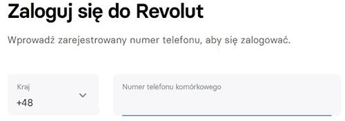 logowanie do Revolut po numerze konta