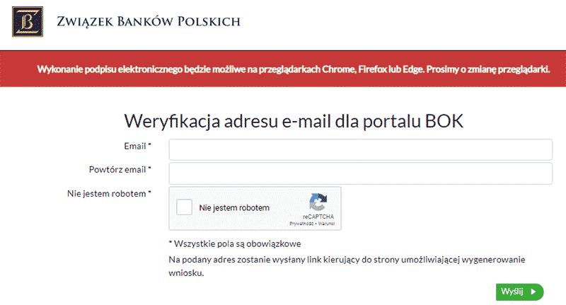 Portal ZBP - początek rejestracji