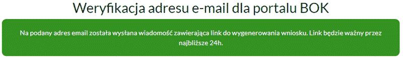 Weryfikacja adresu e-mail przed pobraniem raportu z Bankowego Rejestru