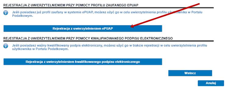 rejestracja w Rejestrze Należności Publicznoprawnych z wykorzystaniem ePUAP