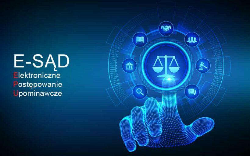 e-sad postępowanie sądowe przez Internet