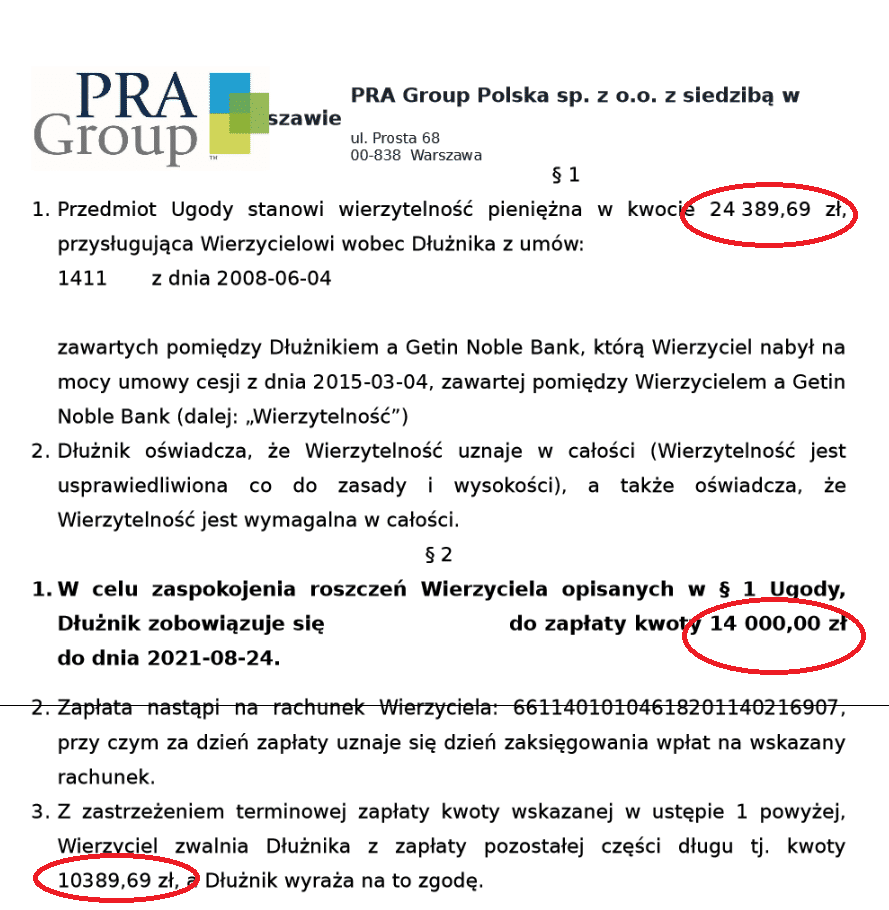 PRA Group ugoda