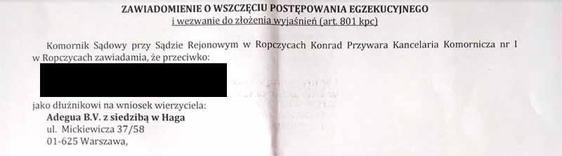 Adegua BV i Zaliczka.pl w jednym stały domu