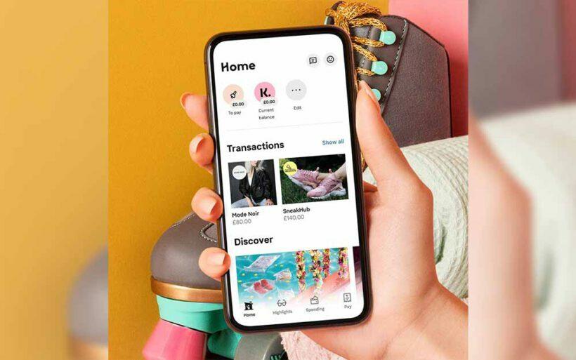 aplikacja klarna na smartfonie