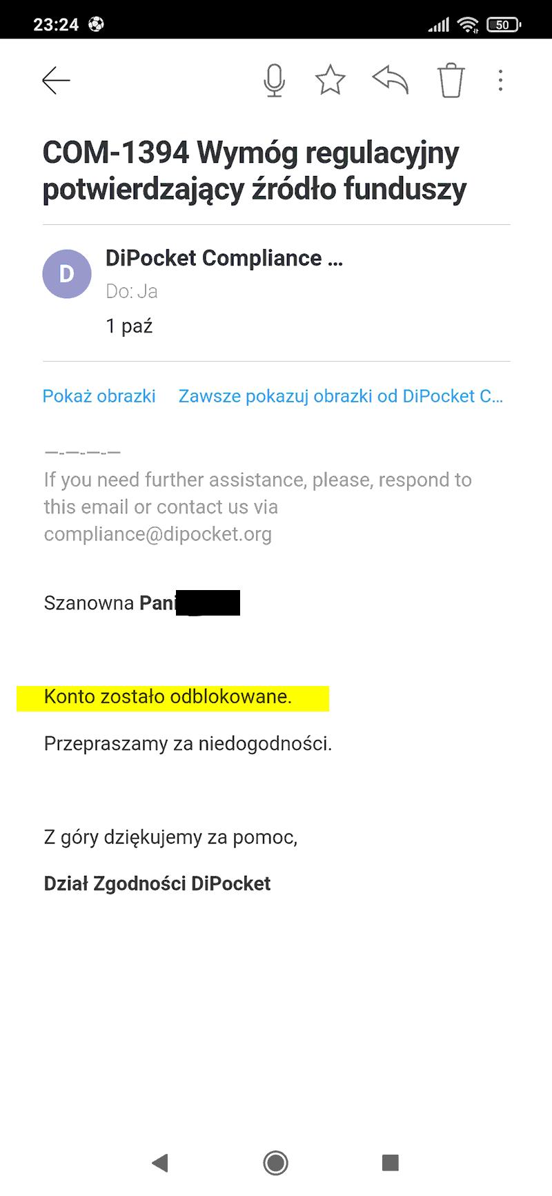 Nie trudno odpowiedzieć na pytanie jak odblokować konto w Dipocket